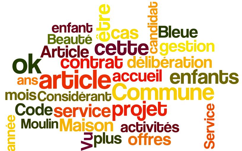 Nuage de mots conseil municipal 7 juillet 2014